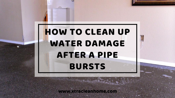 How To Clean Up Water Damage After A Pipe Bursts